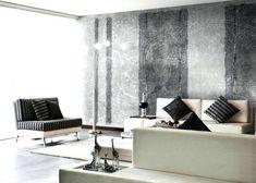Wandgestaltung Wohnzimmer Mit Tapete Beispiele 6