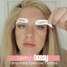 brows by bossy is the #1 brand for premium temporary eyebrow tattoos. With more than 30,000 orders sold, our customers trust us to give them their brows back! Our premium temporary eyebrow tattoos come in 7 EXCLUSIVE COLORS and 5 Styles to provide a perfect brow match for everyone. For a limited time, take advantage of our Buy One Sheet, Get One Sheet 50% Off Sale at browsbybossy.com. For less than $1 per day, you can get your brows back! 100% Waterproof and Realistic Eyebrows in Seconds!! Beauty Skin, Health And Beauty, Beauty Makeup, Hair Beauty, Eyebrow Makeup Tips, Eye Makeup, Hair Makeup, Beauty Secrets, Beauty Hacks