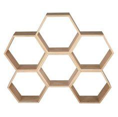 Maya - Estantería nido de abeja de roble