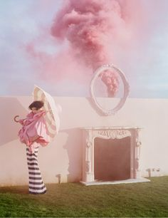 Surreal set designs by Rhea Thierstein for Tim Walker's recent shoot for April's issue of British Vogue.