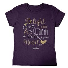 Kerusso Christian T-Shirt - Delight in the Lord Missy from Clothed with Truth