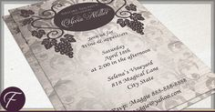 Rustic Vineyard Bridal Shower Invitations