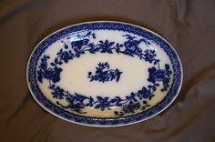 Pre - 1912 Flow Blue Platter