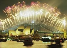 Fireworks over Sydney Opera House and Harbour Bridge New Wallpaper Download, Wallpaper Downloads, Sydney, Fireworks, Places To Go, Jackson, Australia, Building, Most