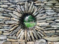 Love this garden wall.