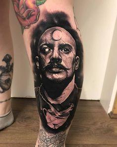 Charles Bronson by @anrijsstraume at Brass Tattoo in Liverpool England. #charlesbronson #anrijsstraume #brasstattoo #liverpool #england #tattoo #tattoos #tattoosnob