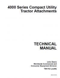 repair manual john deere 650 750 tractors technical manual pdf repair manual john deere 4000 series compact utility tractor attachments technical manual tm 1763
