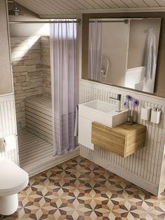 Diseños para la zona de ducha #loftCOLORS #lavabo