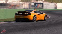 Vallelunga racing circuit for Assetto Corsa Featuring McLaren MP4-12C