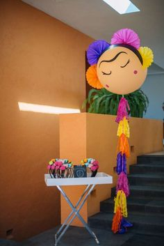 Check out the wonderful party decorations at this Frida Kahlo Birthday Party! See more party ideas and share yours at Mexican Birthday, Mexican Party, Frida Kahlo Party Decoration, Frida Kahlo Birthday, Party Background, Festa Party, Super Party, 1st Birthday Parties, Party Time