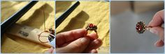 diy button wire ring