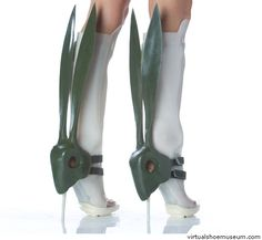 Rabbit boots by Jozefien Vandermarliere. Part of the 'I am the hunter boots' collection.