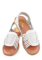 Deck Designer Sandal in White | Mod Retro Vintage Sandals | ModCloth.com