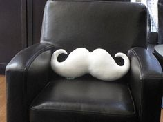 Moustache Pillow. I need to make this ASAP!!!!! LoL