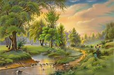 Oil Painting - Most Popular Art Form Of The Modern Times Popular Art, Arte Popular, Beautiful Nature Wallpaper, Beautiful Landscapes, Beautiful Paintings, Pictures To Paint, Nature Pictures, Landscape Art, Landscape Paintings