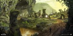 ArtStation - Destiny: Ishtar Cliffs, Dorje Bellbrook