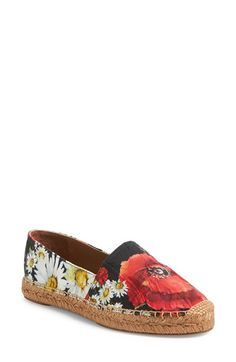 Dolce&Gabbana Floral Espadrille Flat (Women)