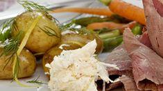 Porre- og peberrodscreme | SØNDAG Danish Food, Potato Salad, Potatoes, Ethnic Recipes, Tips, Potato, Counseling