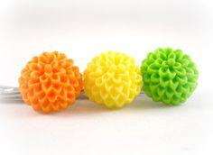 Tween Fashion Hair Accessories  Citrus Trio Summer Hair Accessories Bobby Pin Set Lime Green by foreverandrea,