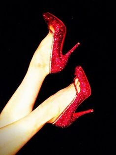 Dita Von Teese  Is anyone else seeing Wizard of Oz in these shoes?