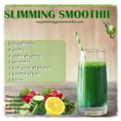 A super easy smoothie. Not only will it help you detox, it will help lose weight the healthy way.☛ A super easy smoothie. Not only will it help you detox, it will help lose weight the healthy way. Healthy Juice Recipes, Juicer Recipes, Healthy Juices, Healthy Drinks, Detox Recipes, Healthy Meals, Ninja Blender Recipes, Healthy Food, Juice Cleanse Recipes