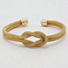Mesh Infinity Bracelet in Gold