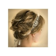Loose Updo With Headband Band. Like for little girls.