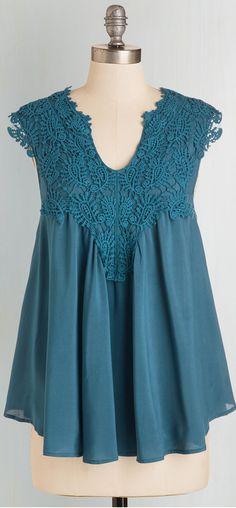 crochet lace embellished blouse