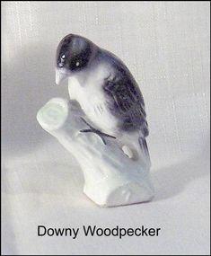 Porcelain Tile From China Key: 1910535539 Downy Woodpecker, Number 7, Birds, Leaves, Tea, Porcelain Tile, Animals, China, Vintage