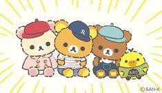 #Rilakkuma gang ♪(*^^)o∀*∀o(^^*)♪ Kawaii Chibi, Kawaii Art, Aesthetic Art, Aesthetic Anime, Rilakkuma Wallpaper, Baby Friends, Cute Cartoon Wallpapers, Desktop Wallpapers, Cutest Thing Ever