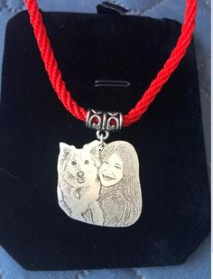 Dog portrait necklace personalized necklace custom necklace dog lovers portrait necklace custom necklace personalized pendant made to order portrait pendant engraved photo necklace pet lovers aloadofball Image collections