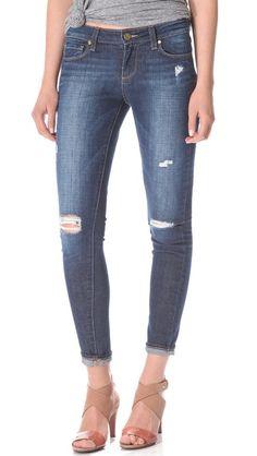 Paige Denim Verdugo Ultra Skinny Destructed Jeans