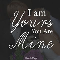 I Am His And He Is Mine --- I called him a distraction from the enemy. I called him a selfish desire, the lust of the flesh. I had to. How else would I forget him? He'd laugh at my feelings; dismiss me if he knew. [...]… Read More Here http://unveiledwife.com/i-am-his-and-he-is-mine-2/ #marriage #love