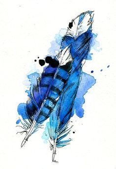 Various Birds & Watercolors of 2013 by Abby Diamond, via Behance