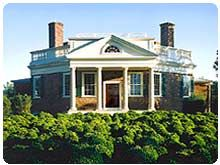 Poplar forest has triple hung windows and opens onto a for Poplar forest floor plan