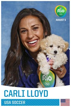 Team USA Olympians Posed With Puppies and the Pictures Are Incredible