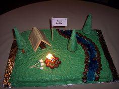 birthday cakes camp theme   Camping Cake