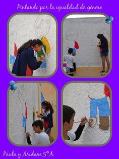 Pintando por la igualdad de género. Paula y Ariadne 5ºA