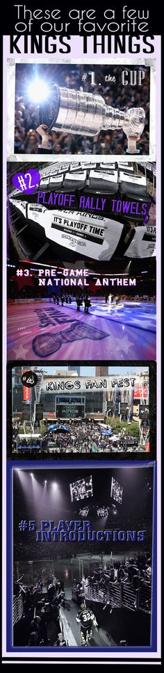 LA Kings fans: This week we kicked off our favorite things with a focus on pre-game festivities as we look forward to the pre-season coming up. Continue following to see what favorite things we'll take a look at next week, and be sure to pin your favorite things with @LAKings so we can share your pride! Go Kings Go!