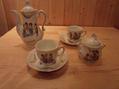 50er Jahre Teeservice Kaffeeservice für Kinder Kanne Tassen Zuckerdose