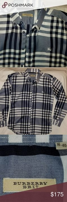 Mens Burberry Brit Shirt New without tags Burberry Shirts Casual Button Down Shirts