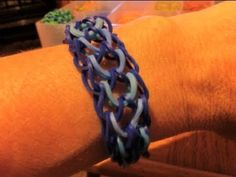 ▶ How to make a Dragon scale bracelet with the rainbow loom - YouTube