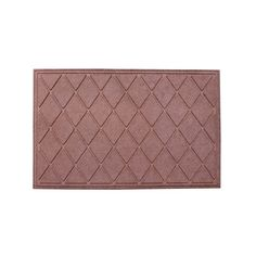 A1HC First Impression Diamond 24 In. X 36 In.Eco-Poly Indoor/Outdoor Mat (classic brown) (Rubber)