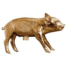 Piggy bank in gold leaf.Product:  Bank in form of pig        Construction Material:    Resin and corkColor:  Gol...