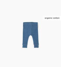 Organic cotton ribbed leggings-COLLECTION-MINI | 0-12 months-KIDS | ZARA United Kingdom