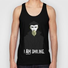 e41d84b616f Buy Requiem Mask - I AM Smiling. Unisex Tank Top by Iron-Gibbet Studios.  Worldwide shipping available at Society6.com. Just one of millions of high  quality ...