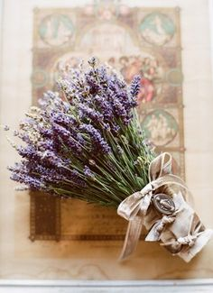 Lavender bouquet----oooooo, i'm going to hang lavender bouquets from fun nobs/hooks on my vintage window!