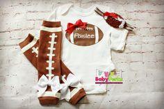 PICK COLOR Football bodysuit Sport leg warmers Baby by MsPerks