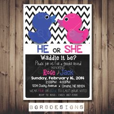 Waddle It Be Bright Rubber Ducky Gender Reveal by Bgr8Designs, $13.00