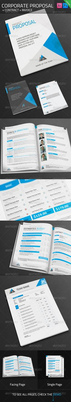 Project Proposal Template Bundle w  Invoice \ Contract Proposal - sales proposal template